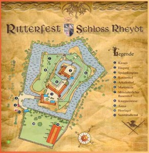 Lageplan Ritterfest Schloss Rheydt